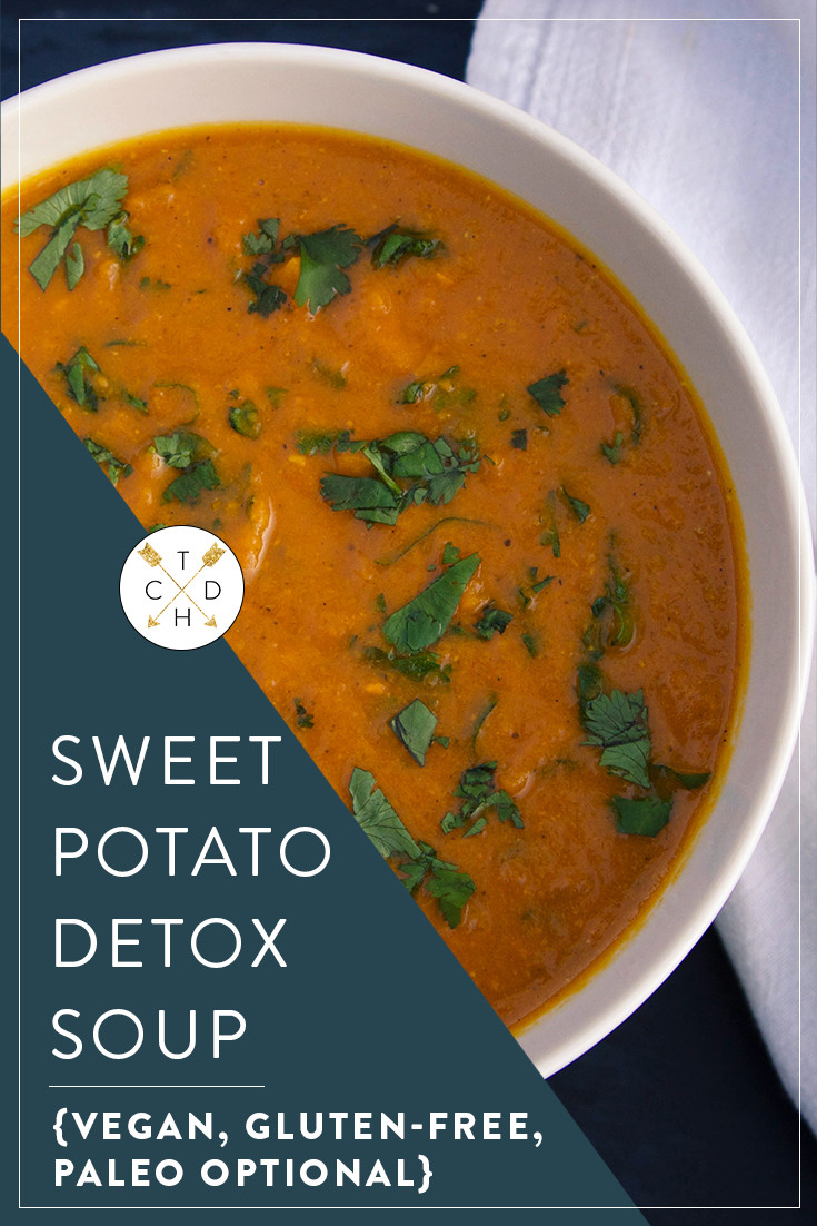 Sweet Potato Detox Soup {Vegan & Gluten Free} If you have dreams of sailing through cold and flu season without a sniffle in sight, this is the soup for you. My all-time fave Sweet Potato Detox Soup will keep you warm and well as the weather turns colder.